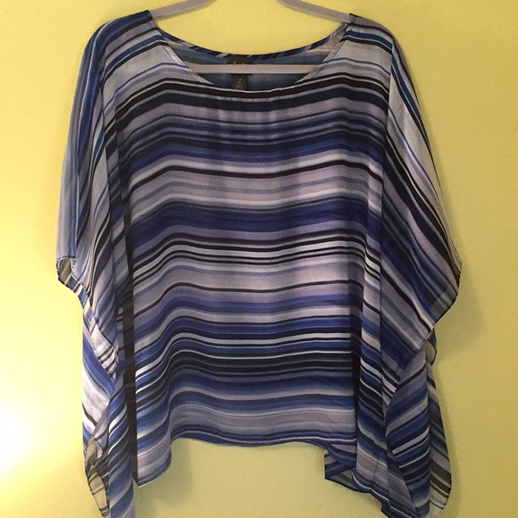 Chico's Tops - Chico's Travelers Lightweight Poncho Size 2